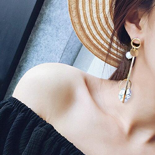 耳環 幾何 圓形 金屬 不對稱 垂墜 耳環【DD1612133】 BOBI  04 / 20 0