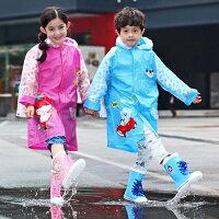 下雨天推薦雨靴/雨傘/雨衣推薦雨衣 卡通兒童雨衣/充氣帽檐/書包位【EL10245】 BOBI  10/06