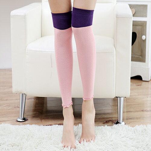 襪套 雙色 拼接 堆堆襪 過膝長筒 襪套~FS021~ BOBI 12 8