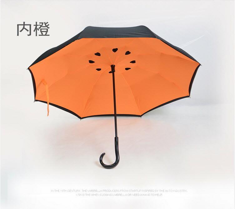 反向傘 4色可選-碳纖結構雙層布防雨防曬外收反轉傘/新型弧面 上收設計 反收傘 4