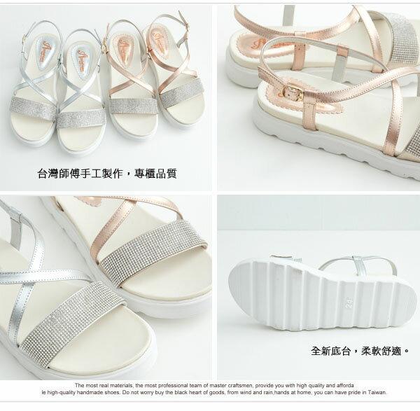 AppleNana。輕量化亮鑽交叉輕盈真皮氣墊涼鞋【QC142011380】蘋果奈奈 2