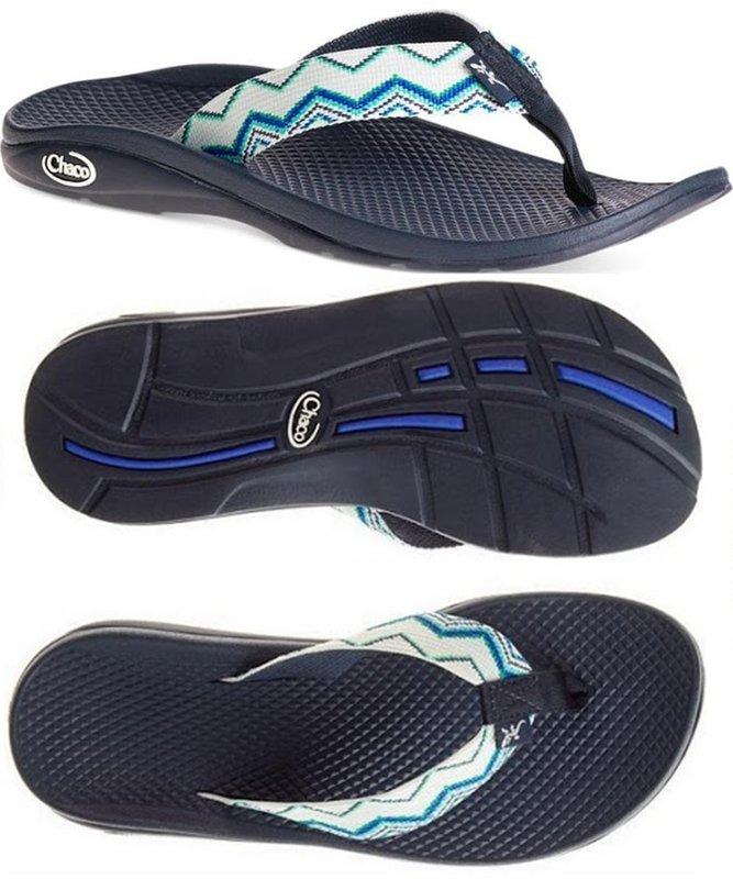 ├登山樂┤美國Chaco 女戶外休閒涼鞋/夾腳拖鞋-沙灘款 聖地亞哥藍# CH-ETW01-HC66