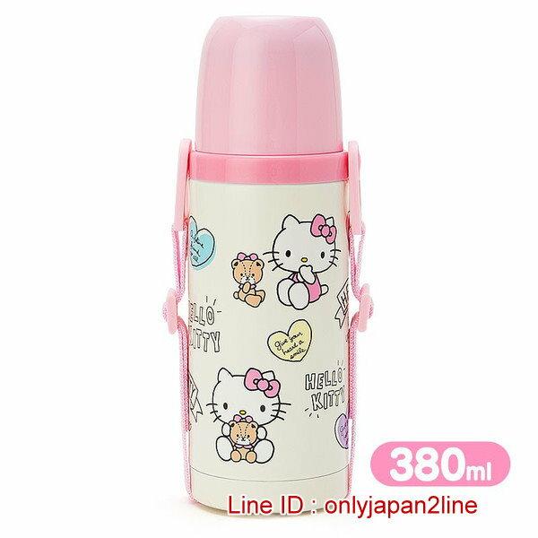 【真愛日本】 16121400001不鏽鋼保溫瓶380ml-KT小熊米    三麗鷗Hello Kitty凱蒂貓 保溫保冷