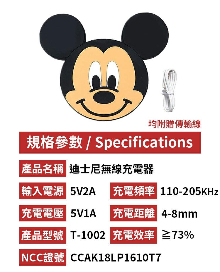 【現貨正版雷標】Disney迪士尼無線充電器 充電板 充電盤 無線充電座 米奇 米妮 維尼 三眼怪 史迪奇 熊抱哥【A2308】