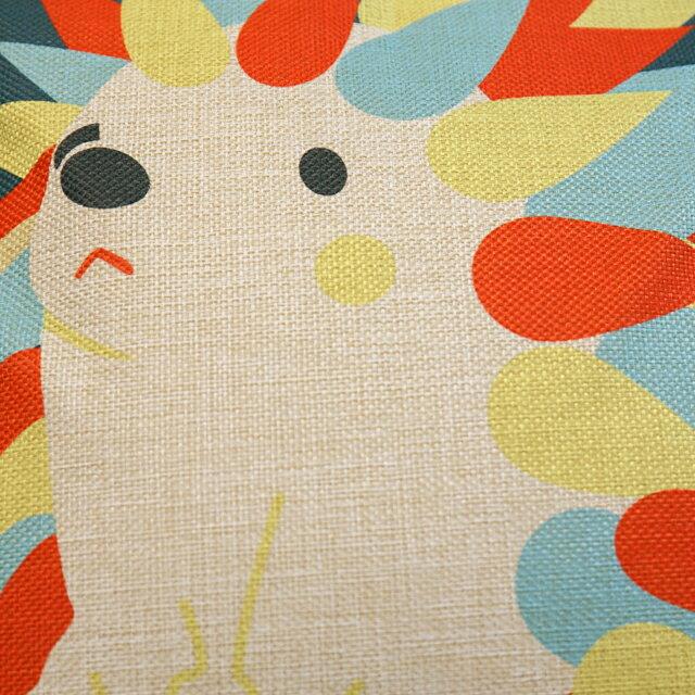 彩虹刺蝟抱枕  棉麻材質   45cmX45cm 花色獨特 觸感扎實 1