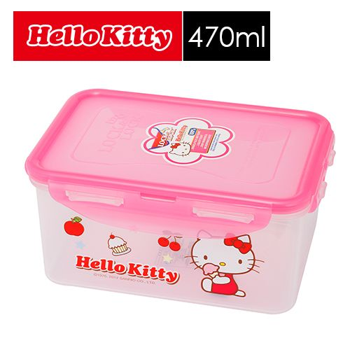 【SHOPPINESS】樂扣樂扣 HELLO KITTY PP保鮮盒 470ml=>LOCK&LOCK LocknLock