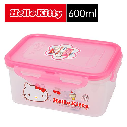 【SHOPPINESS】樂扣樂扣 HELLO KITTY PP保鮮盒 600ml=>LOCK&LOCK LocknLock