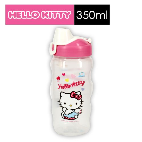 【SHOPPINESS】樂扣樂扣HELLO KITTY PP水壺-愛心天使 350ml(附吸管)=>LOCK&LOCK LocknLock