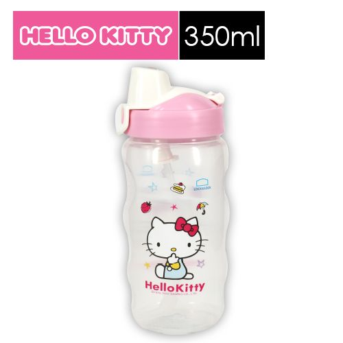【SHOPPINESS】樂扣樂扣HELLO KITTY PP水壺-粉嫩甜蜜 350ml(附吸管)=>LOCK&LOCK LocknLock