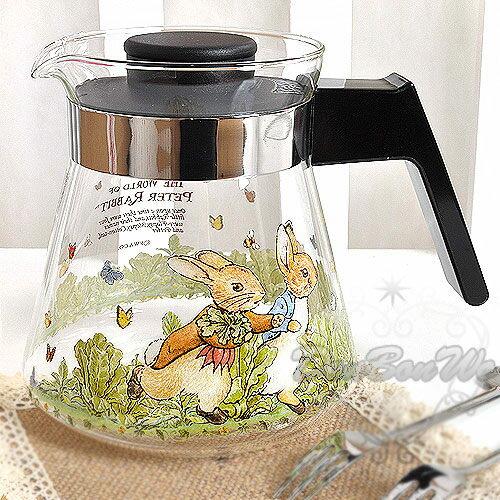 彼得兔茶壺冷水壺咖啡壺750ML蝴蝶結多圖209266熱門
