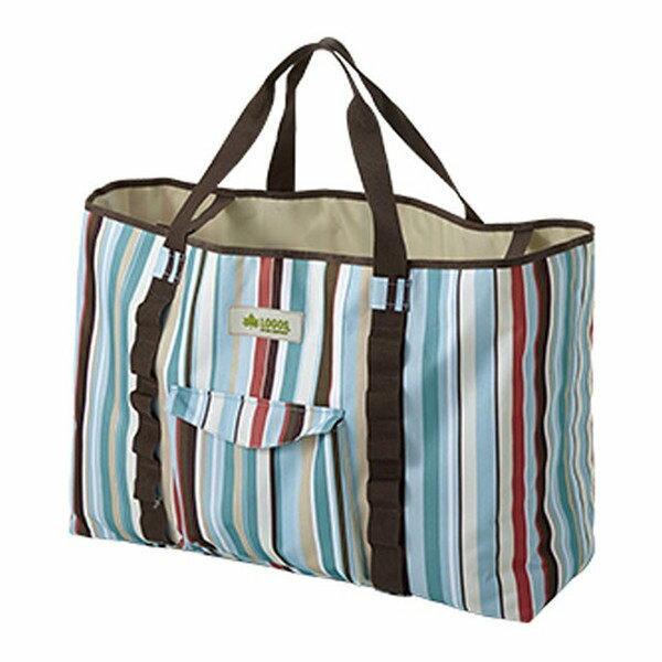 LOGOS 日本 | 條紋裝備袋(藍/L) 65X21cm | 秀山莊(LG73189012)