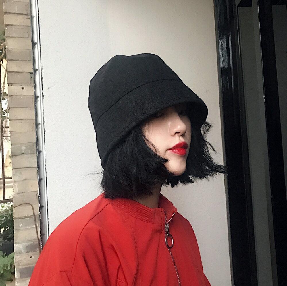 設計師款日本小眾純色復古漁夫帽子潮男女秋季時尚街頭水桶帽盆帽 秋冬新品特惠