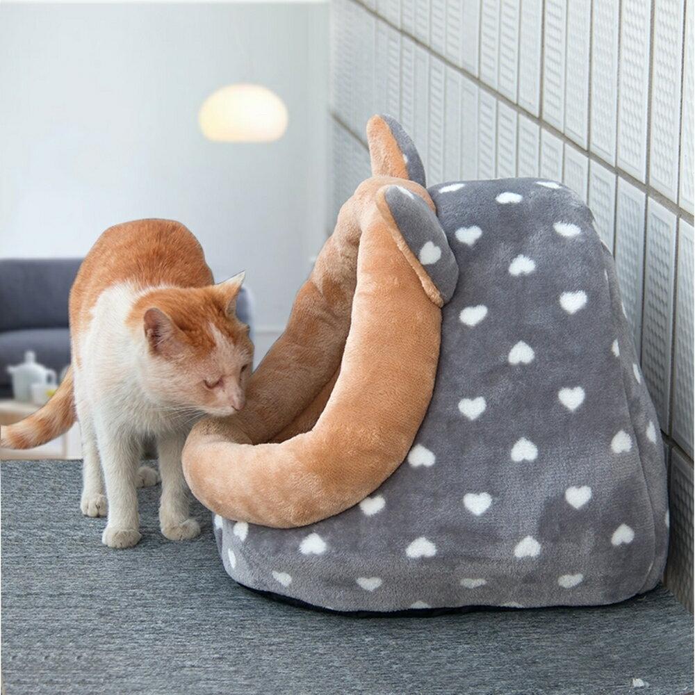 貓窩四季通用泰迪狗窩小型犬寵物窩可拆洗貓窩冬季貓咪窩保暖狗屋WD   夏洛特居家名品