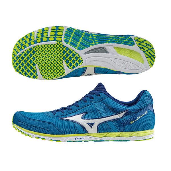 日本同步WAVE EKIDEN 10馬拉松鞋 U1GD152025(天藍X白)S【美津濃MIZUNO】