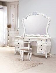 【簡單家具】,H22-1 凡爾賽法式5尺鏡台(含椅),大台北都會區免運費組裝定位到好!