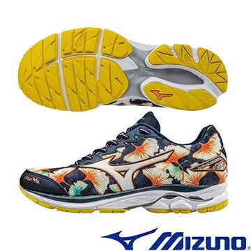 J1GD170801(銀杏X銀白) OSAKA 馬拉松紀念鞋款 WAVE RIDER 20 女慢跑鞋Q【美津濃MIZUNO】