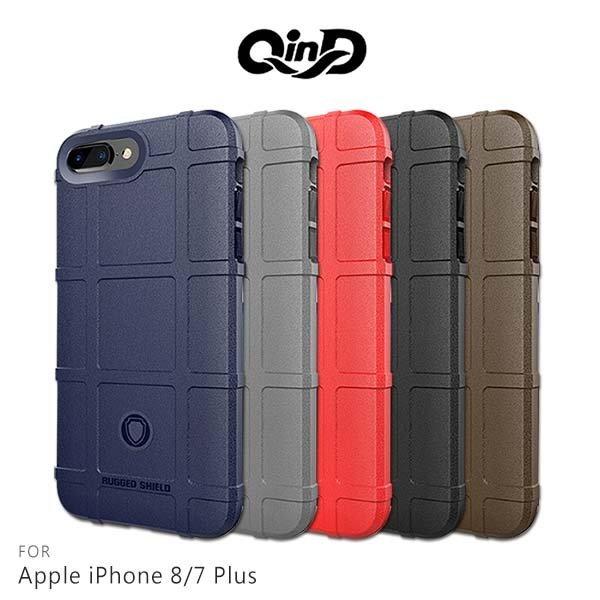 【東洋商行】QinD Apple iPhone 8/7 Plus 戰術護盾保護套 邊緣全包 減震抗摔