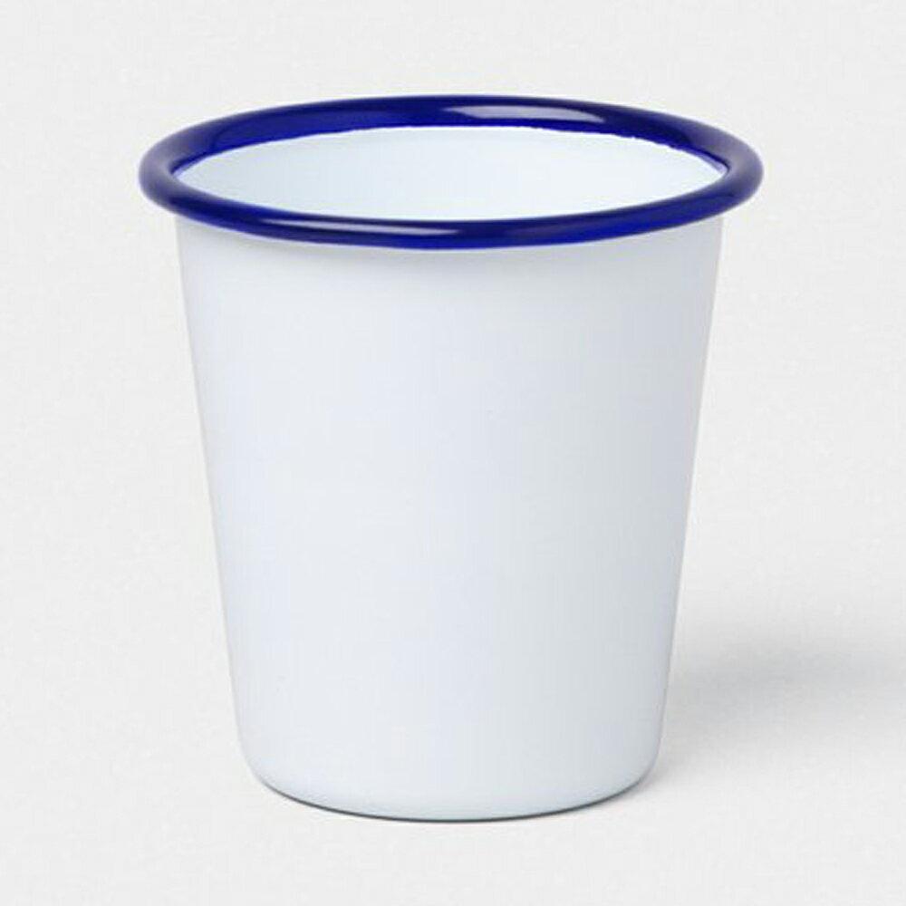 【英國Falcon獵鷹琺瑯】水杯 茶杯 310ml 藍白 -618年中慶