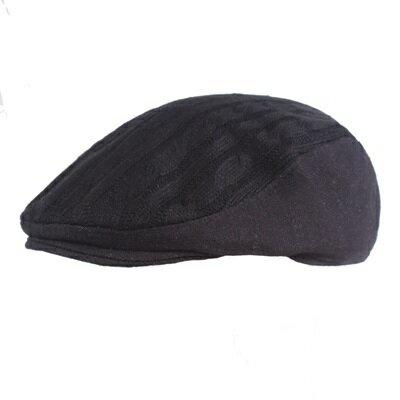 貝雷帽鴨舌帽-純色拼接毛線百搭男女帽子3色73tv70【獨家進口】【米蘭精品】