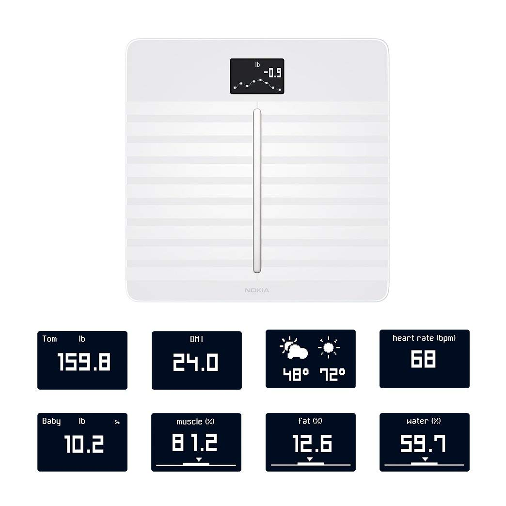 Nokia Body Cardio Wi-Fi Smart Scale with Body Composition and Heart Rate - White 3