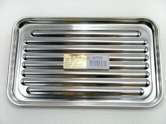 快樂屋♪ 台灣製 304不鏽鋼 波浪烤盤 〔淺〕