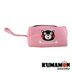 【KUMAMON 酷MA萌】NO.A150熊本熊化妝收納包 粉 (化妝 零錢 防水 收納 筆袋)