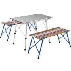 【鄉野情戶外專業】 LOGOS |日本|  捲桌雙人凳組_LG73188001