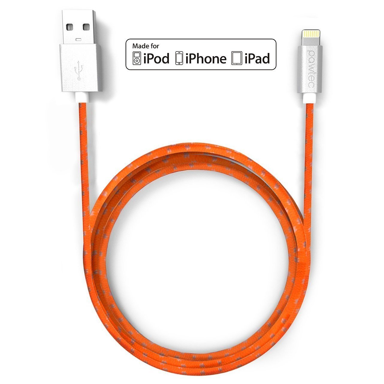 32750d4639ac60 Pawtec Lightning to USB Charge Sync Cable Apple MFi Certified 6.6 Ft / 2 M  Extra
