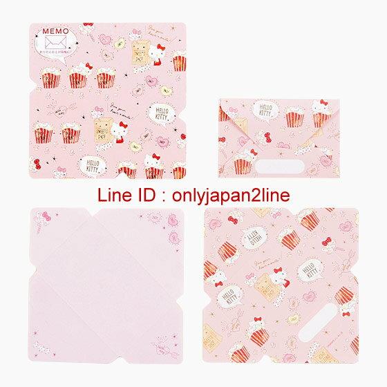 【真愛日本】4901610343845 日本製迷你便條紙信套組-KT   三麗鷗 Hello Kitty 凱蒂貓  信套組 書寫用 文具用品