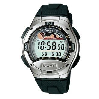 CASIO 卡西歐/極限運動月向與潮汐圖流行腕錶/W-753-1A