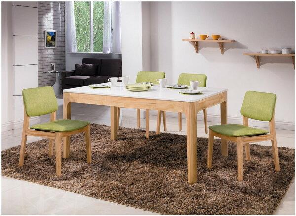 【石川家居】YE-A452-01希芙雙色5尺全實木餐桌(不含餐椅及其他商品)台北到高雄搭配車趟免運