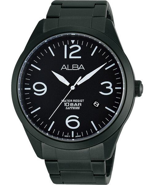 ALBA VJ42-X126SD(AS9763X1)玩黑城市時尚腕錶/黑面44mm