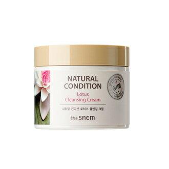 【即期良品】韓國the SAEM Natural Condition 蓮花潔面霜-300ml (New) Natural Condition Lotus Cleansing Cream 【辰湘國際】 - 限時優惠好康折扣