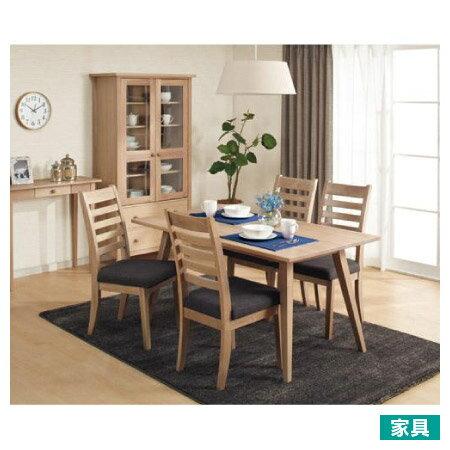 ◎實木餐桌椅五件組 ALAND140 白橡木 NITORI宜得利家居 0