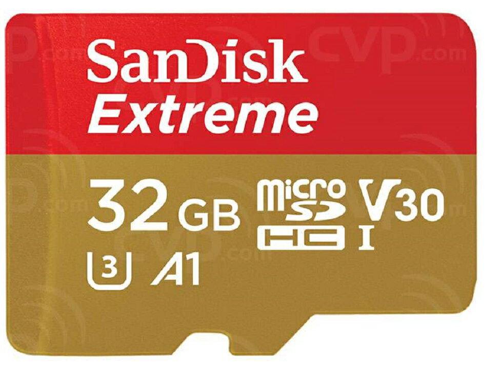 SanDisk Extreme 32GB microSDHC 100MB/s A1 Class10 C10 U3 UHS-I 4K V30 667X 32G microSD micro SD SDHC Flash Memory Card SDSQXAF-032G + OEM microUSB 2.0 OTG Reader 0