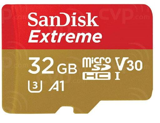SanDisk Extreme 32GB microSDHC 100MB/s A1 Class10 C10 U3 UHS-I 4K V30 667X 32G microSD micro SD SDHC Flash Memory Card SDSQXAF-032G + Plastic Case