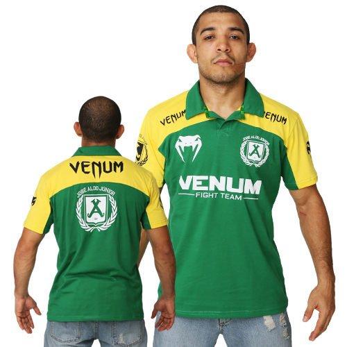 UFC超級潮T格鬥品牌VENUM眼鏡蛇UFC巴西隊款式POLO衫-巴西柔術黃綠