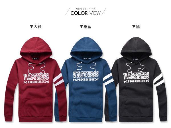 ☆BOY-2☆ 【NR73998】連帽長袖韓版簡約條橫抽繩T恤 1
