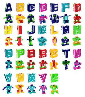 【888便利購】ABC字母變形積木機器人(每款2變24款字母)(授權)