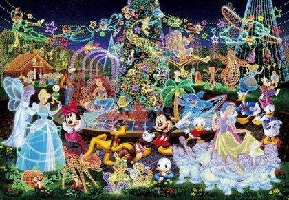 【進口拼圖】迪士尼 DISNEY-水晶燈光舞會 夜光拼圖 500片 D-500-391