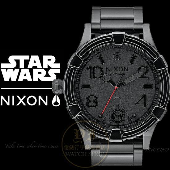 NIXON x STAR WARS Vader Black限量聯名腕錶A172SW-2244公司貨/極限運動/收藏款