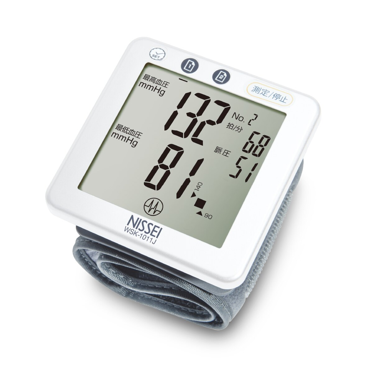 "NISSEI""日本精密""手腕式血壓計- WSK-1011J,登錄五年保固"