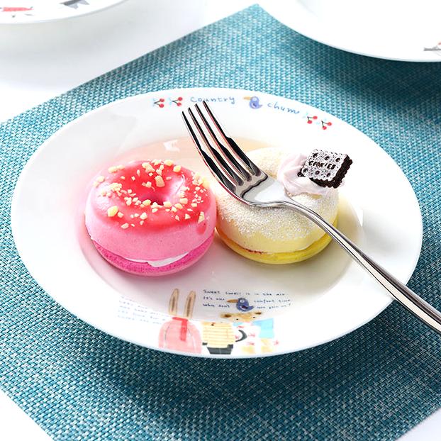 《波卡小姐》創意美式手繪喵星人點心餐盤 / 皇家白瓷義大利麵盤子 / 可愛貓咪造型餐具水果盤 (現+預)