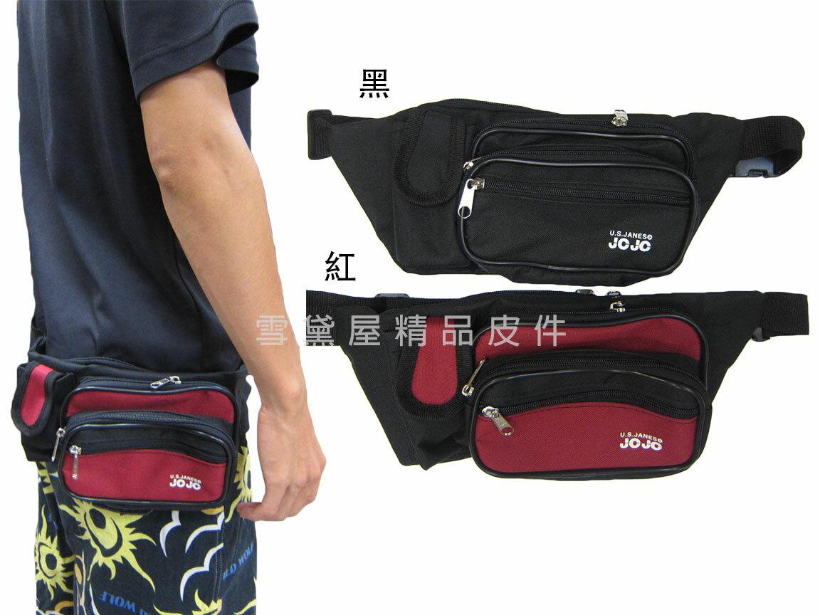 ~雪黛屋~JOJO 腰包小容量貼身設計台灣製造隨身貼身腰包防水尼龍布運動休閒 工作男女全齡皆適用#8336
