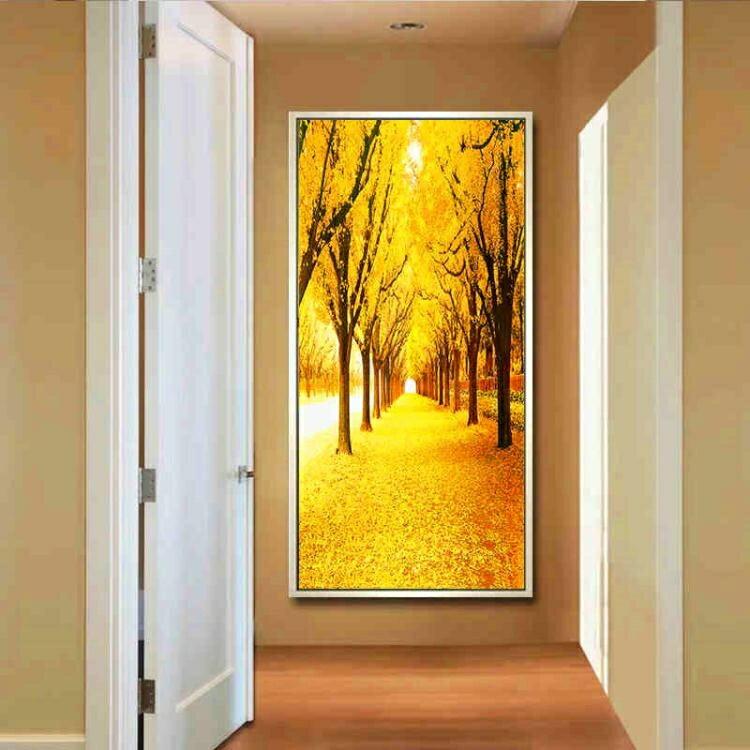 壁畫 入戶玄關裝飾畫豎版過道走廊墻面畫現代簡約客廳掛畫 i 現貨快出