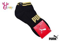 PUMA FASHION LOGO字樣腳踝襪 運動襪 台灣製 襪子 一雙入 SX361#黑金◆OSOME奧森鞋業