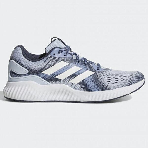 AdidasAEROBOUNCESTW女鞋慢跑休閒緩震輕量透氣藍灰【運動世界】CG4584