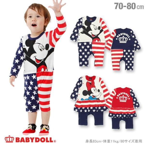 日本BABYDOLL迪士尼米老鼠幼兒長袖連身服CBT-25310141。2色(3456)-日本必買免運代購