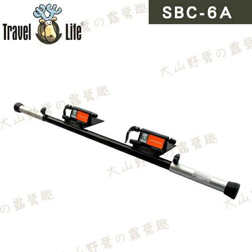 【露營趣】安坑 Travel Life 快克 SBC-6A 伸縮式車內攜車架 鋁合金攜車架 單車架 腳踏車架