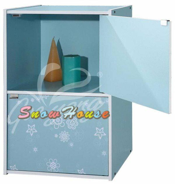 ╭☆雪之屋居家生活館☆╯AA559-04/05/06彩色二格二門組合櫃/書櫃/書架/置物櫃/雜物櫃DIY自組